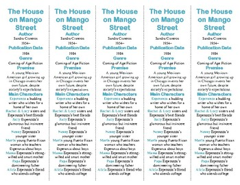 The House on Mango Street ed. of Bookmarks Plus: Fun Freebie/Reading Aid!