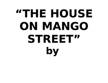 IR The House on Mango Street quotes to print