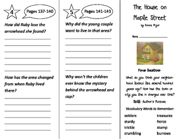 The House on Maple Street Trifold - Imagine It 3rd Grade U