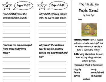 The House on Maple Street Trifold - ReadyGen 2016 2nd Grade Unit 1 Module B