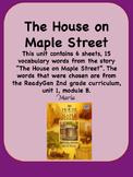 ReadyGen The House on Maple Street Vocabulary 2nd Grade  U