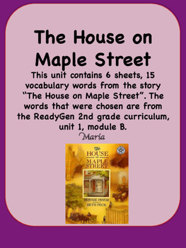 ReadyGen The House on Maple Street Vocabulary 2nd Grade  U