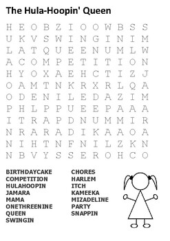 The Hula-Hoopin' Queen Word Search