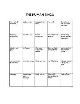 The Human Bingo