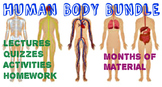 2 MONTH Human Body Systems Bundle: PowerPoints, Quizzes, Homework, Activities