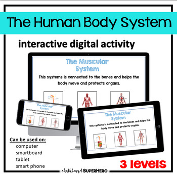 The Human Body System interactive digital activity