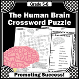 Human Brain Worksheets - Crossword Puzzle, Body Systems 5th Grade Supplement