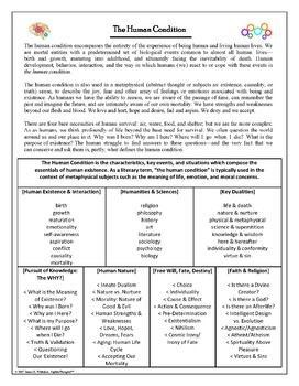 The Human Condition Handout