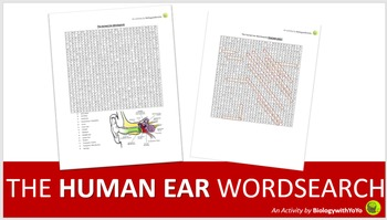 The Human Ear Word Search