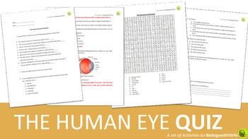 The Human Eye Quiz