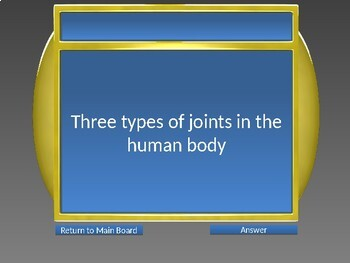 The Human Skeletal System Game Show Powerpoint