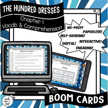 The Hundred Dresses-Chapter 1 Vocabulary & Comprehension - BOOM Cards