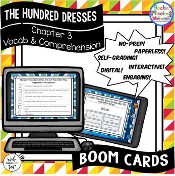 The Hundred Dresses-Chapter 3 Vocabulary & Comprehension - BOOM Cards