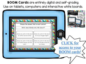 The Hundred Dresses-Chapter 4 Vocabulary & Comprehension - BOOM Cards