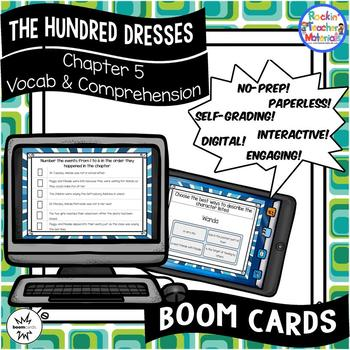 The Hundred Dresses-Chapter 5 Vocabulary & Comprehension - BOOM Cards