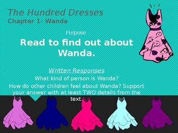 The Hundred Dresses Comprehension Slides