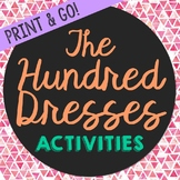 The Hundred Dresses Novel Unit Study Activities, Book Comp