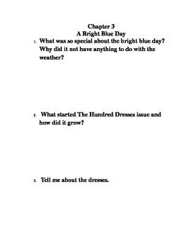 The Hundred Dresses book journal