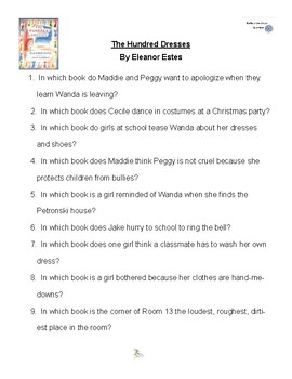 The Hundred Dresses by Eleanor Estes, Battle of the Books Questions