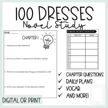 The Hundred Dresses by Eleanor Estes Novel Study