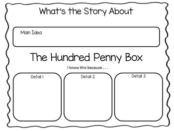 The Hundred Penny Box  33 pgs Common Core Activities