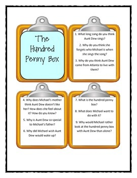 THE HUNDRED PENNY BOX  - Discussion Cards