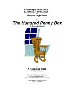 The Hundred Penny Box   Thinking, Writing Prompts, Graphic Organizers