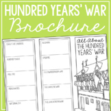 THE HUNDRED YEARS' WAR Research Brochure Template, World History Project