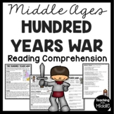 The Hundred Years War reading comprehension, Middle Ages, European History
