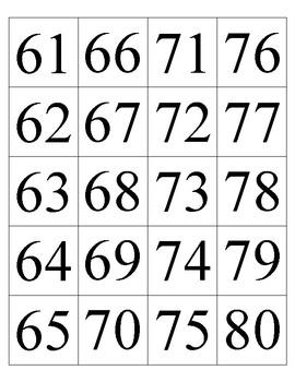 The Hundreds Chart - Pocket Cards Set