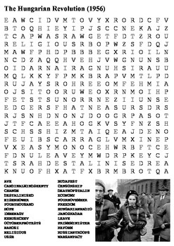 The Hungarian Uprising 1956  - Cold War Word Search