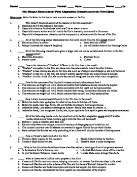 The Hunger Games 10-Question Multiple Choice Quiz on the N