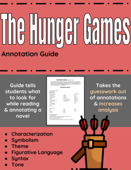 The Hunger Games Annotation Guide By English Classroom Solutions