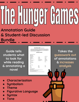 The Hunger Games Annotation Guide and Student-led Discussion bundle