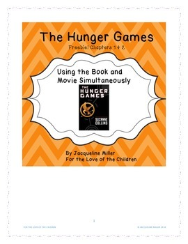 The Hunger Games: Book + Movie Simultaneously + Shared Inquiry Chps. 1 & 2