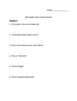 The Hunger Games Book Questions and Answers