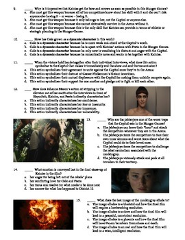 The Hunger Games: Catching Fire Film (2013) 15-Question Multiple Choice Quiz