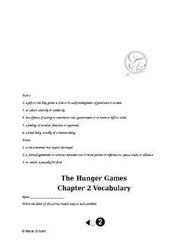 The Hunger Games Chapter 2 Packet