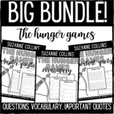The Hunger Games Chapter Questions, Vocabulary, and Important Quotes Bundle