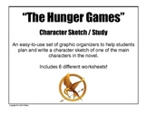 The Hunger Games Character Sketch Worksheets / Organizers