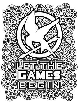 Coloring Pages Games The Hunger Games Coloring Pages Booktracee Orman  Tpt