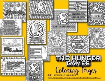 The Hunger Games Coloring Pages Book By Tracee Orman