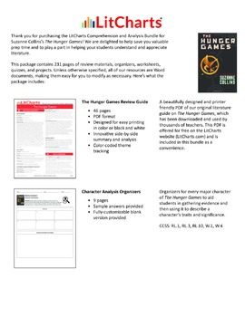 The Hunger Games – Comprehension and Analysis Bundle