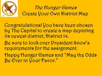 The Hunger Games - Create Your Own District with Rubric