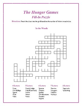 """The Hunger Games: """"In the Woods"""" Fill-In Puzzle—Fun Downtime Activity!"""