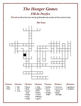 "The Hunger Games: ""The Seam"" Fill-In Puzzle—Fun Downtime Activity!"