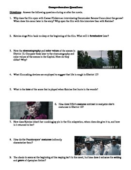 The Hunger Games Film (2012) Study Guide Movie Packet