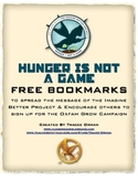 "The Hunger Games ""Hunger is NOT a Game"" Bookmarks Free"
