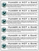 """The Hunger Games """"Hunger is NOT a Game"""" Bookmarks Free"""