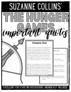 The Hunger Games Important Quotes